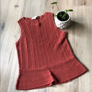 Brand new burnt orange knit tank from the LOFT